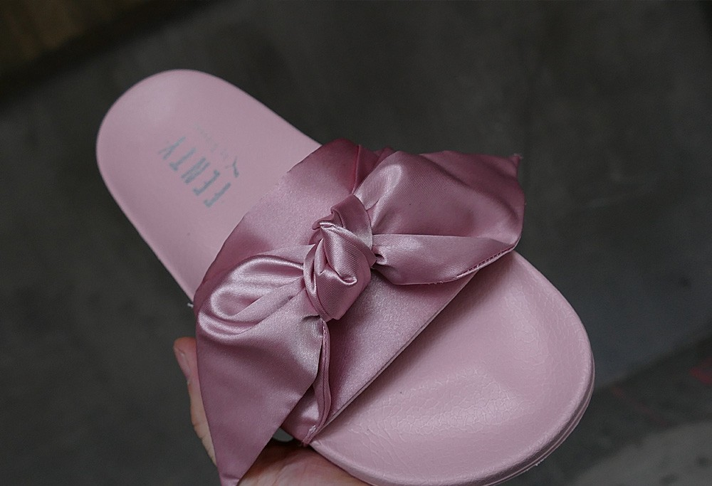 8a9cd2bf5cc9 puma fenty bow slide by rihanna satin pink .