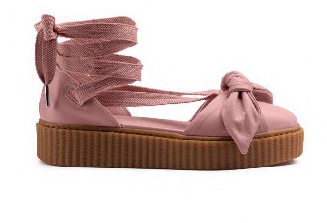 Puma Fenty Bow Sandal by Rihanna Silver Pink