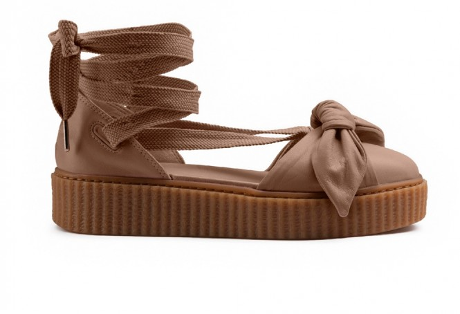 separation shoes 5ba34 8a2bc Puma Fenty Bow Sandal by Rihanna Natural