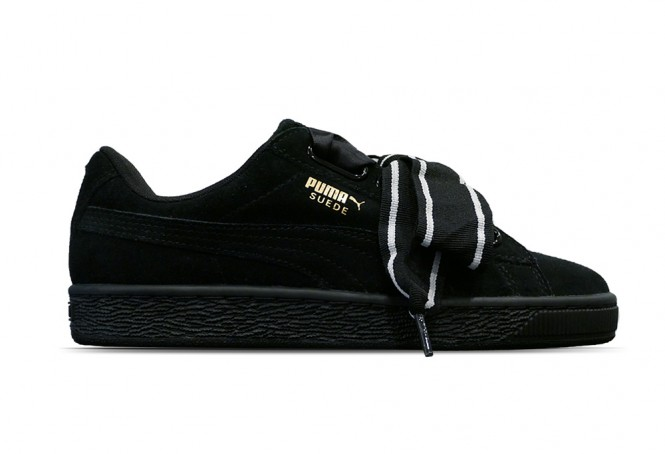 puma heart satin noir