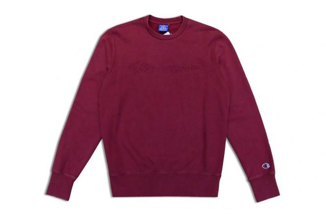 Champion Script Logo Washed Sweatshirt