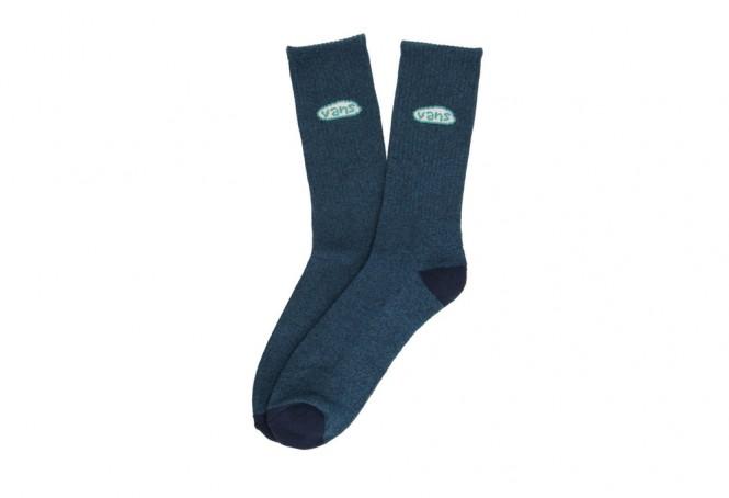 Seasonal Color Crew blue socks